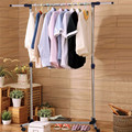 High Quality Stainless Steel Standing Drying Clothes Rack Single Layer HW50195