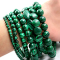 Wholesale/Retail Multi size semi-finished Natural malachite Gem stone Beads For DIY crystal Green jewelry accessories Beads