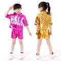 Новинка современные танцевальные костюмы для детей джаз хип-хоп танцевальные костюмы девушки улица Ds производительности установленные одежды