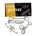 Steel Metal Ring Puzzle IQ  Test Toy Ring solution / Chinese puzzle Brain Teaser 3 pcs/set,