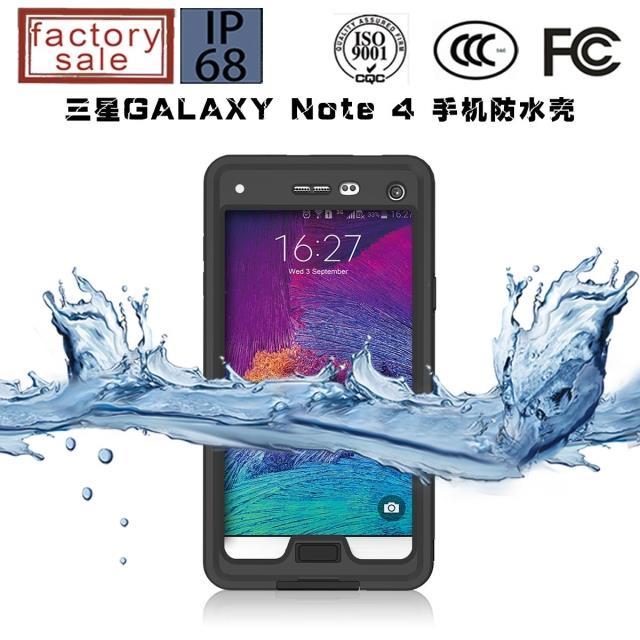 imágenes para Nota 4 Caso A Prueba de agua, pimiento rojo de Esquí pesca de agua caso prueba Para Samsung Galaxy Nota4 N9100 N4 soporte soporte de la cubierta fundas