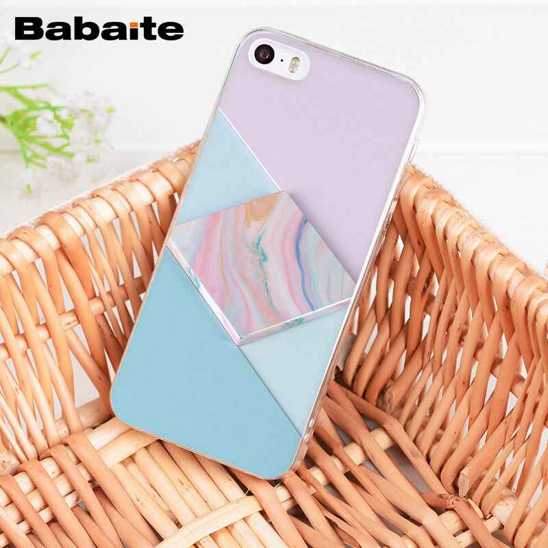 cff6d20a240c4d ... Babaite Gold Black Pink White marble collage fashion Soft Phone Case  for iPhone 8 7 6 ...
