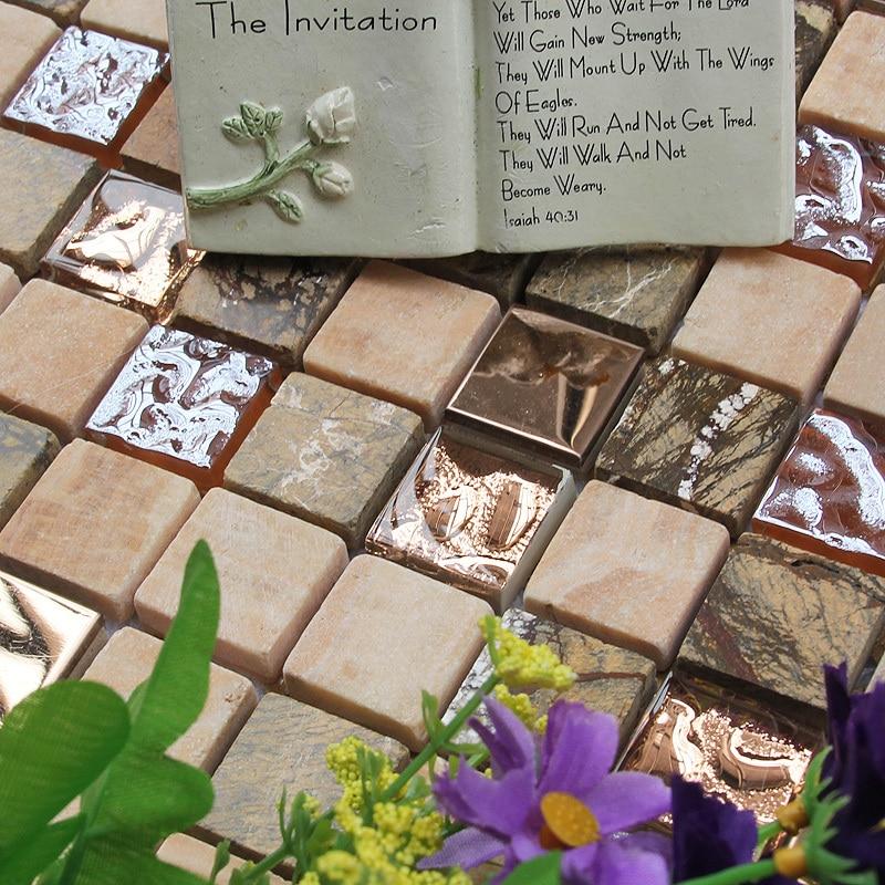 marbled stones crystal glass mosaic <font><b>tiles</b></font> HMGM1094 backsplash kitchen wall <font><b>tile</b></font> sticker bathroom floor <font><b>tiles</b></font> free shipping