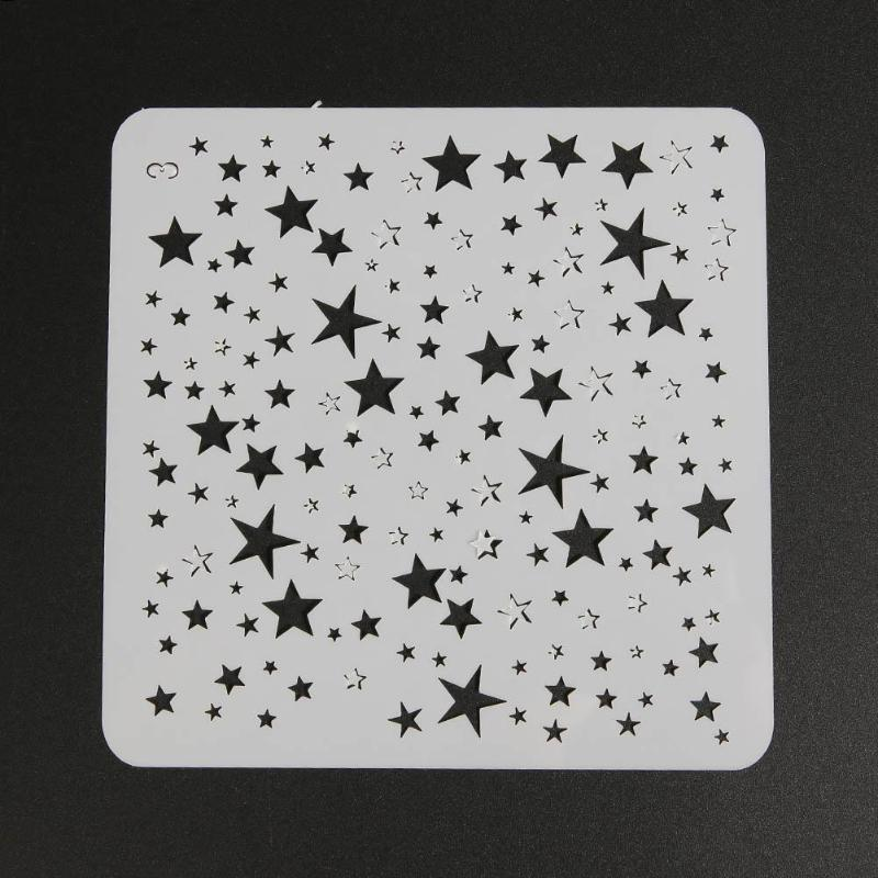 Stencil Starry Star Hollow Template Stencils For Painting  For Diy Scrapbooking Photo Album Embossing Paper Cards Crafts