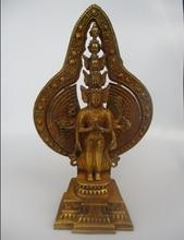 High 15 inch Antique Sculpture ,Collectible Old Tibetan Brass Thousand Hands Buddha Statue