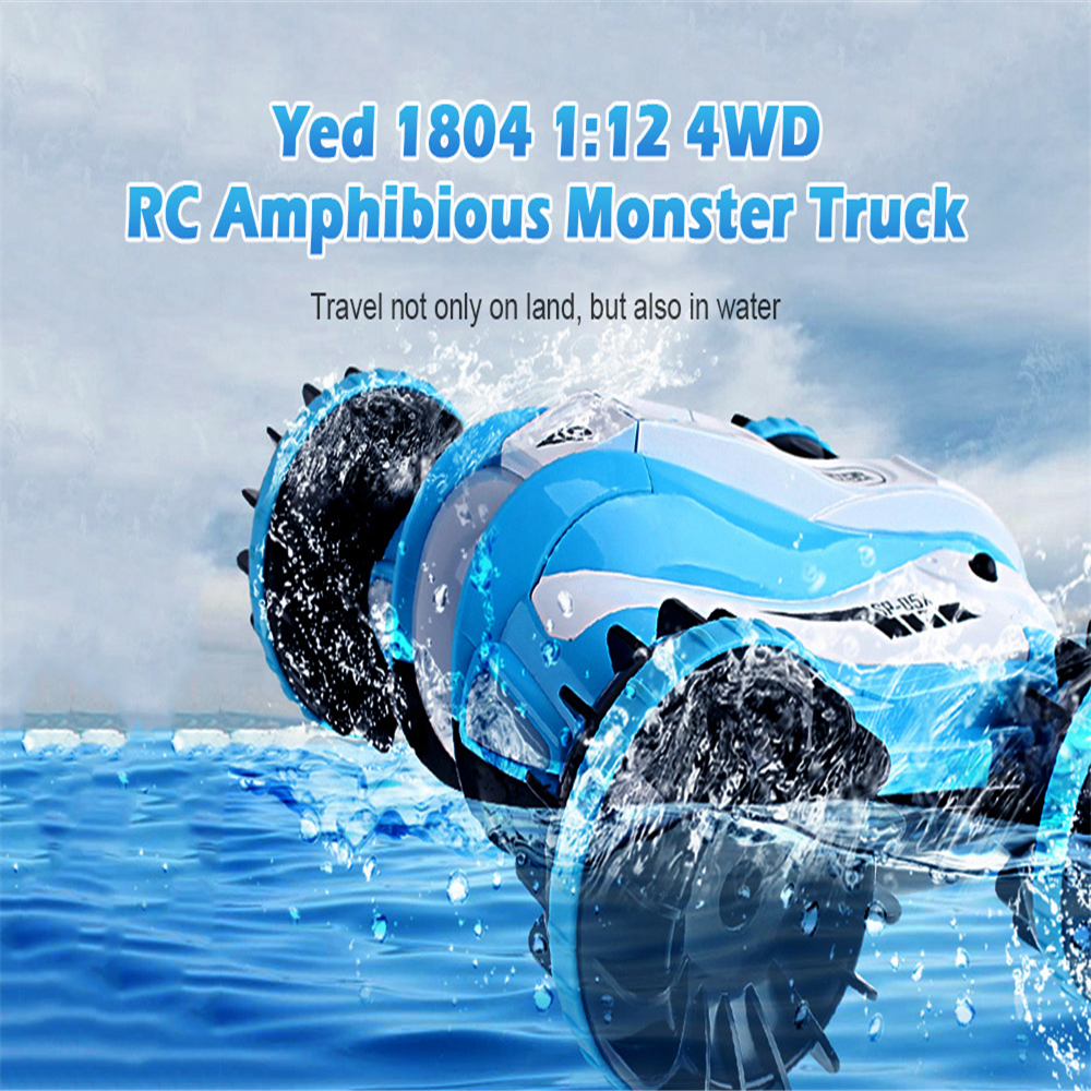 New Arrival Yed 1804 RC Car 2.4G 1:12 4WD Scale Rock Crawler Racing Car Monster Truck Off-Road Amphibious Remote Control Car Toy