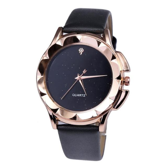 2018 Women Leather Simple Business Fashion Quartz Wrist Watch Luxury Bracelet Wa