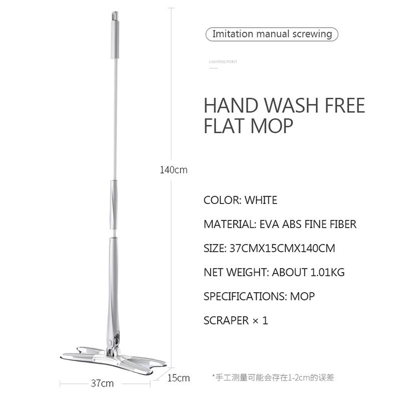 Image 4 - 360 クリーニング簡単に回転させるための洗浄床マジックマイクロファイバー布フラットスマートハンドルダストモップパッドツイストヘッドスピン    グループ上の ホーム