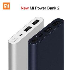 Xiaomi Mi Power Bank 2 10000 мАч обновление с двойным выходом USB Powerbanks Поддерживает двустороннюю быструю зарядку для XiaoMi