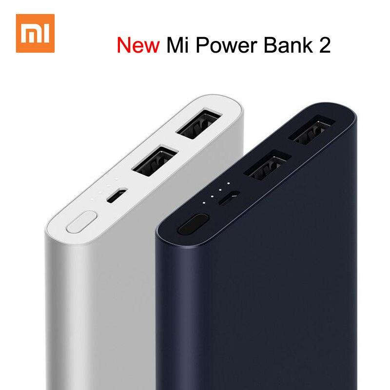 Xiao mi mi power bank 2 10000 mah atualizar com dupla saída usb powerbanks suporta carga rápida em dois sentidos para xiao mi