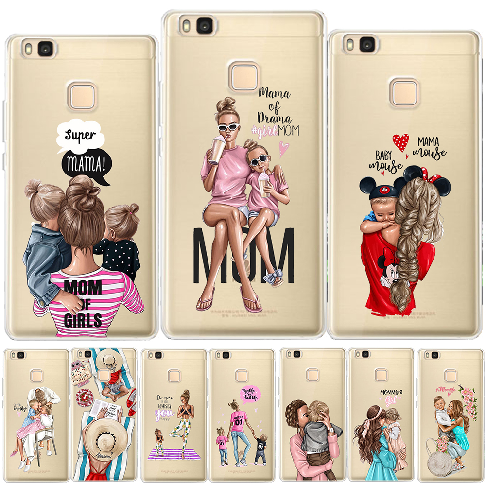 Brown Hair Baby Mom Girl Coque Shell Phone Case For Huawei P30 Lite P30 Pro P20 Lite P8lite P9lite 2017 P10 P Smart Capa High Quality And Inexpensive Back To Search Resultshome