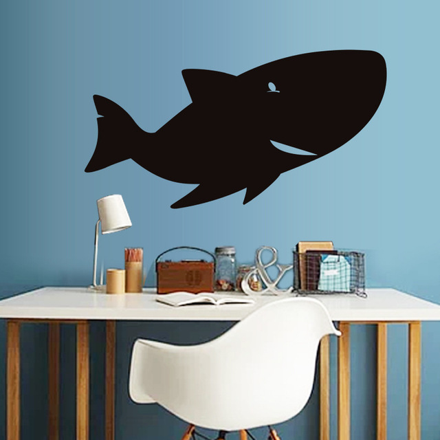 Kw0100 Shark E Wall Creative Blackboard Animal Graffiti Stickers For Home Decor Kids Room And School Background Murals