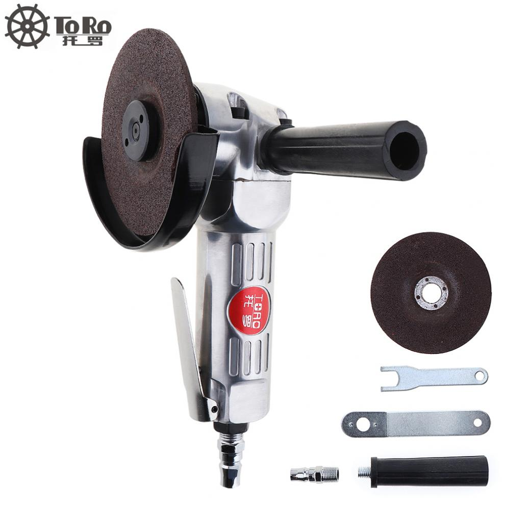 Sale 4 Inch High-speed Pneumatic Angle Grinder with Disc Polished Piece and PVC Handle for Machine Polished   Cutting Operation