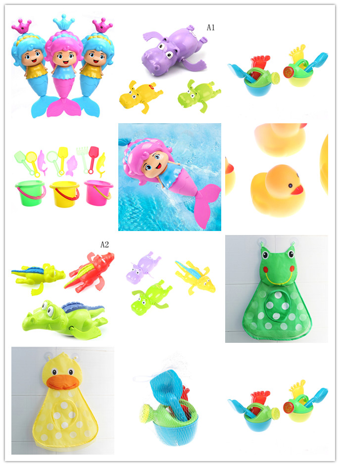 3Pcs/set Lovely Beach Kettle Shower Toy Bathroom Plastic Water Spray Play Toys For Baby Swimming Kids Gift Color Random