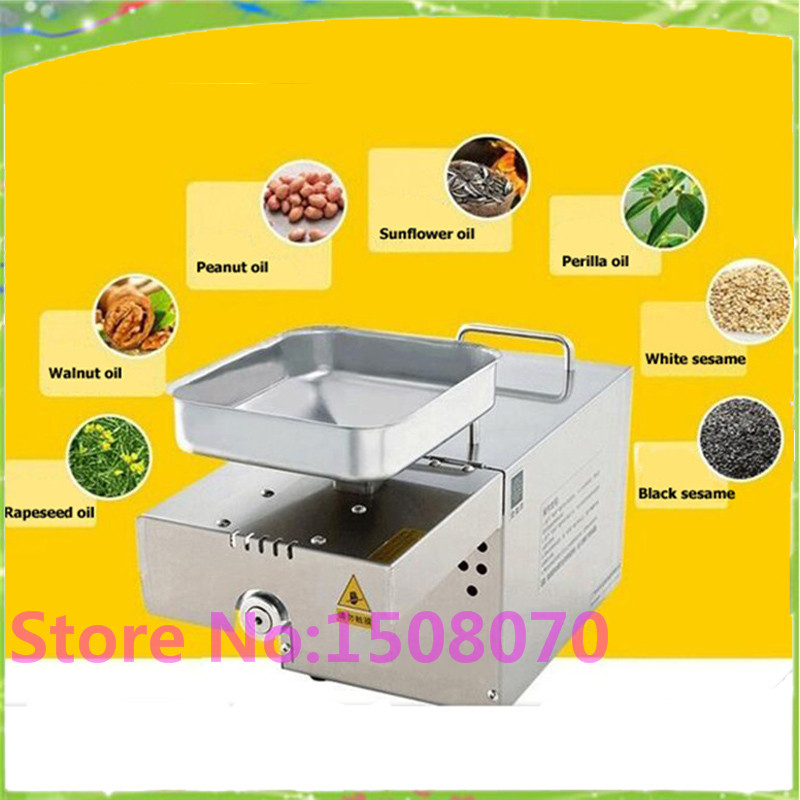 High Efficiency 110/220V 304 Stainless Steel Automatic Peanut Oil Press Machine Nuts Seeds Oil Presser Pressing Machine automatic mini oil press machine squeeze peanut oil pressing machine peanut sesame nuts corn oil machine hf 04 200w 220v 1pc