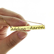 Name Bar Necklace Gold Color