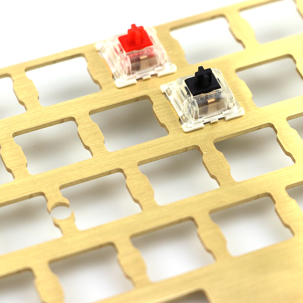Mechanical <font><b>keyboard</b></font> cnc <font><b>60</b></font> brass drawing concurrence positioning plate support ISO ANSI for GH60 <font><b>pcb</b></font> <font><b>60</b></font>%<font><b>keyboard</b></font> DIY image