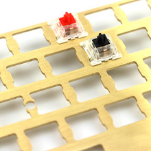 Mechanical keyboard cnc 60 brass drawing concurrence positioning plate support ISO ANSI for GH60 pcb 60%keyboard DIY(China)