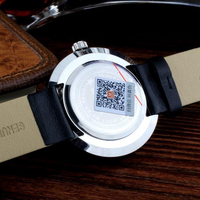 ФОТО ONLYOU Brand Watches Women Men Fashion Casual Genuine Leather Quartz Wrist Watch For School Boys Girls Black Yellow Color 81012