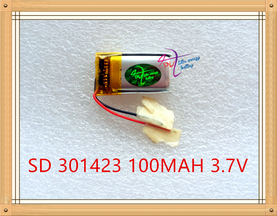 Liter energy battery 3.7V polymer lithium battery 301423 100MAH <font><b>301525</b></font> MP3 Bluetooth headset small speaker small toys image