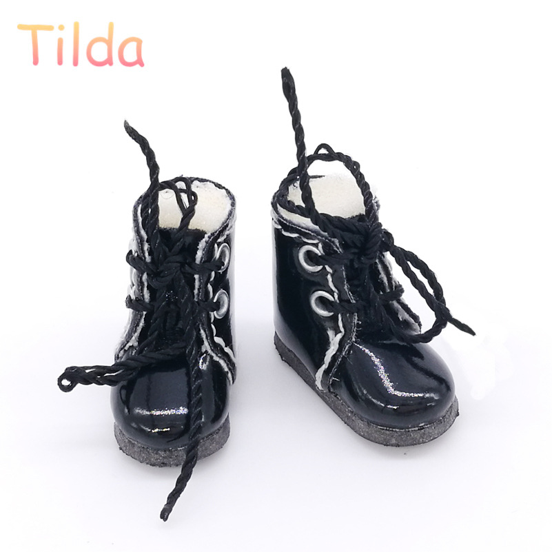 1Pair Pu Leather 1//8 Doll Boots Shoes For Bjd 1//6 Dolls Blythe Licca Jb Dolls HU