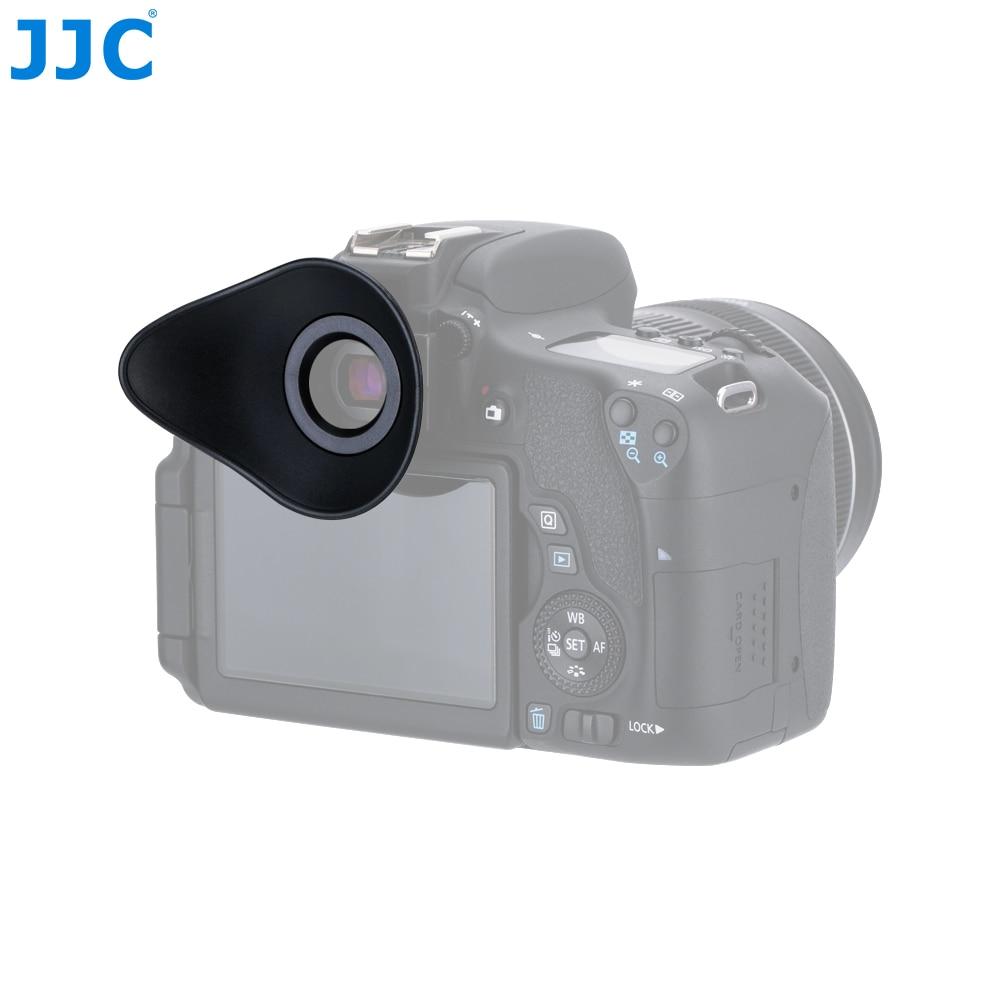 JJC Eye Shape Eyepiece Soft Eyecup For Canon EOS 5D Mark II/5D/6D Mark II/60D/50D/40D/77D/800D/1300D Replaces Eyecup Eb/Ef