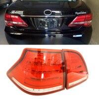 1 set Clear Red Lens All In One Full LED Rear Fog Light Kit 12V Tail/Brake, Backup Reverse Light lamp For TOYOTA CROWN 2003 2009