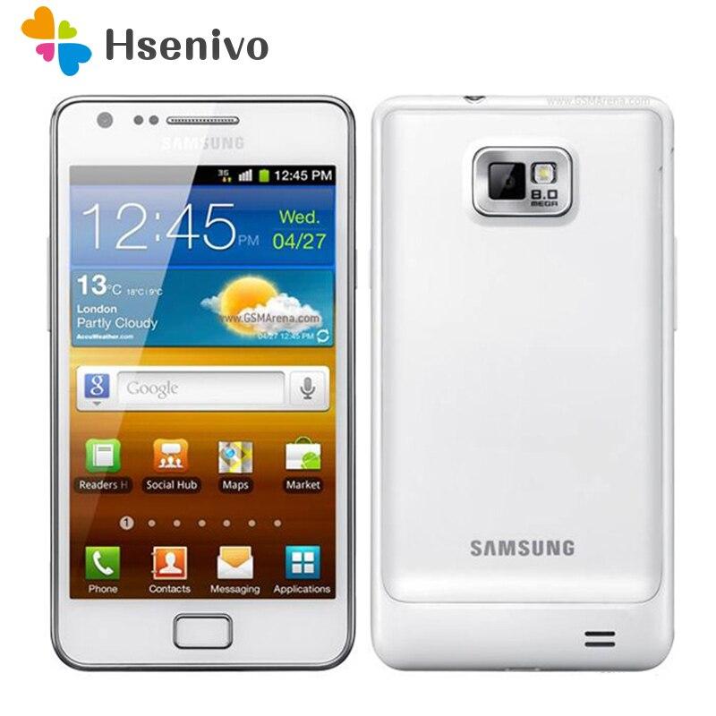 Venda quente original 100% Original Desbloqueado Samsung Galaxy S2 I9100 GPS 8MP 4.3 Inch'Refurbished 16 GB ROM Smartphone Frete Grátis