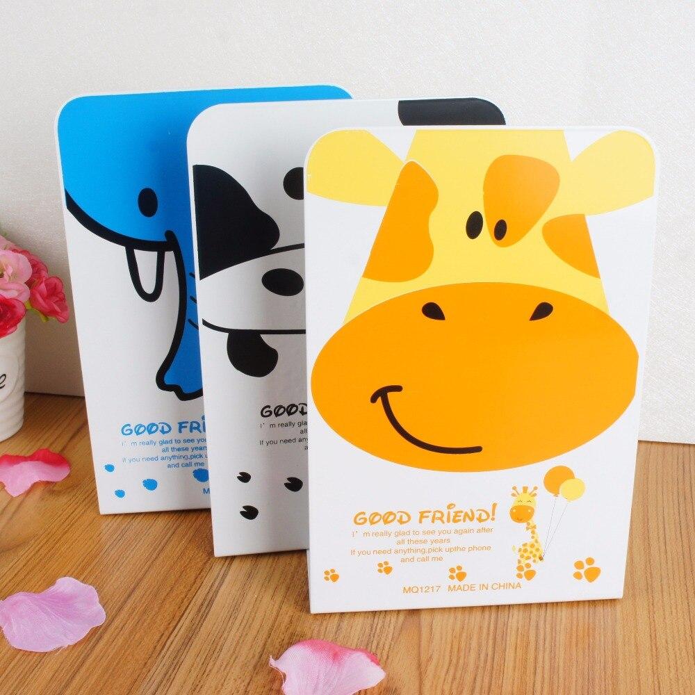 2 шт./пара корейский мода металлический Подставки для книг гладить милые животные книга  ...
