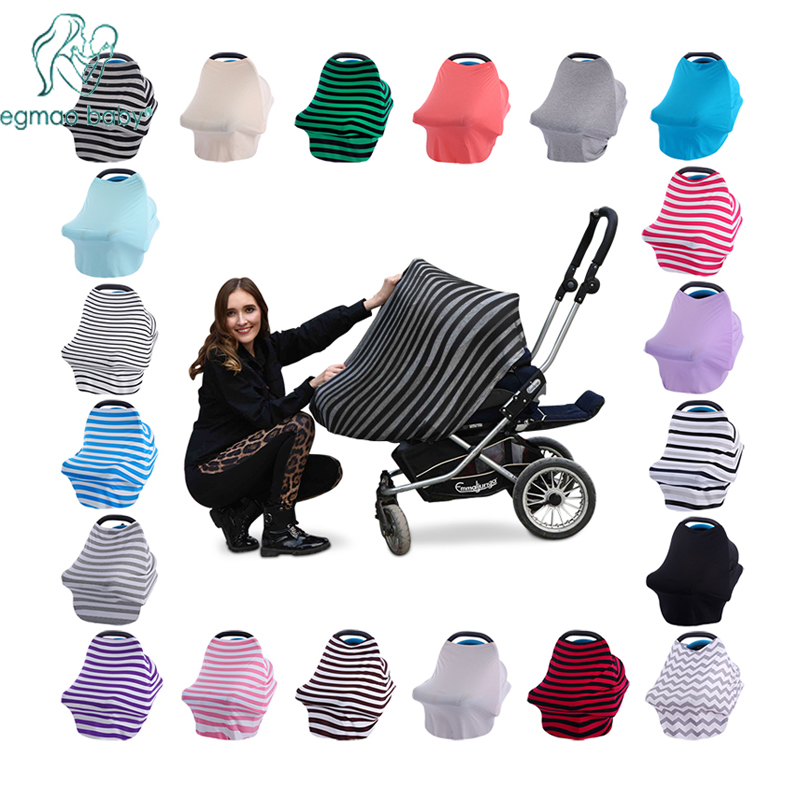 Nyt barnesædeovertræk Toddler Canpony Nursing Cover Multi-Use Stretehy Infinity Scarf Breastfeeding Shipping Car Chair Cover