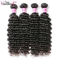 Vallbest Lớn Brazil Sâu Sóng Human Tóc 3 Gói/lô 300 gam Weave Extensions Tự Nhiên Màu Đen # 1B Màu Remy Tóc 3 Cái