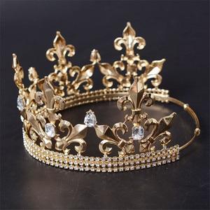 Image 3 - Adjustable Gorgeous Crystal Wedding Men Tiara Crown For Men Headpiece Rhinestone Hair Ornaments Wedding Head Jewelry Accessories