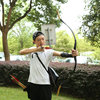 51 Inch Handmade 20LBS 50LBS Wooden Traditional Recurve Bow Mongolian Bow Horsebow Hunting Target Shooting Training