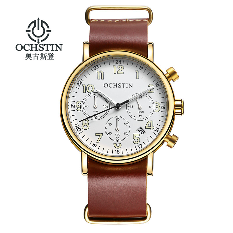 Leather Band Fashion Chronograph Sport Mens Watches Top Brand Luxury Quartz Watch Reloj Hombre Clock Male hour relogio Masculino jedir reloj hombre army quartz watch men brand luxury black leather mens watches fashion casual sport male clock men wristwatch