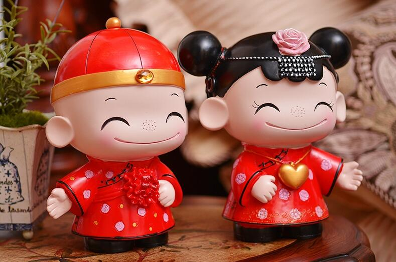Wedding Gift For Guest Home Decoration Wedding Pair Doll Lover Gift Lovely Design Free Shipping H-17 кашпо gift n home сирень
