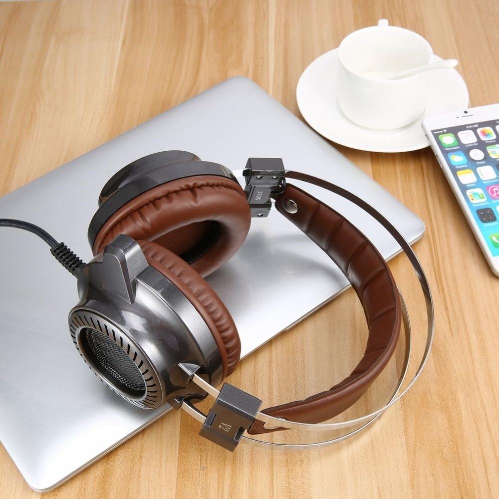 Стерео V2 наушник игровой гарнитуры геймера светодиодный свет Hi-Fi наушники MP3 с микрофоном мягкие чашки наушников для компьютера PC