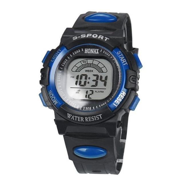 men watch Mens Stainless Steel LED Digital Date Alarm Stylish Sports Army Quartz Watch quartz wristwatch New Gift P*21