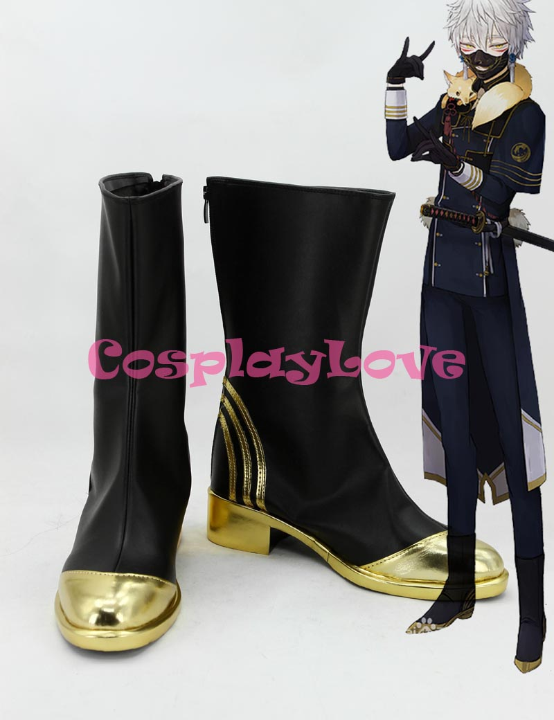 Custom Made Japanese Game Touken Ranbu Online Uchigatana Nakigitsune Cosplay Boots Shoes For Halloween Christmas