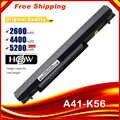 HSW 8 Cells Laptop battery for Asus K56C A46C S550C S46 S46C K56V K56CA/CB/CM S56C E46C K46C A31/A32/A42/A41-K56fast shipping