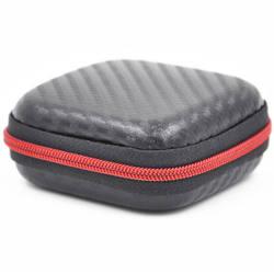Квадратный черный Мини Портативный защитный чехол для наушников Наушники Mp3 протектор чехол USB кабель 75 (L) * 75 (W) * 31 (H) мм