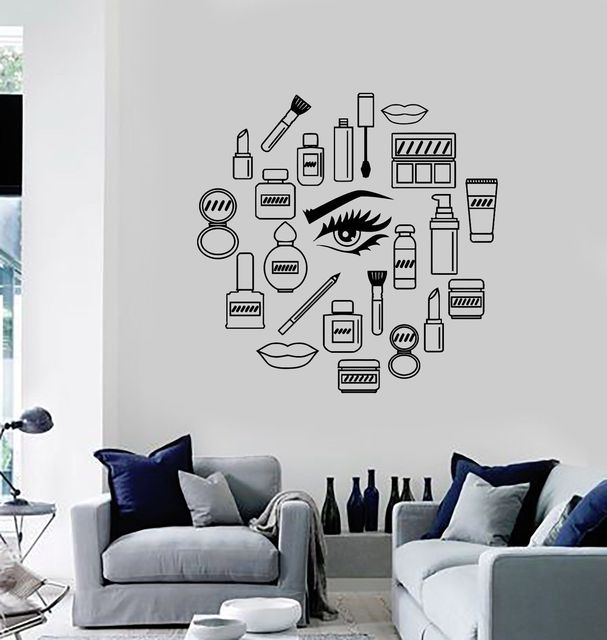 Aliexpresscom Buy New Women Vinyl Decal Makeup Cosmetics - Vinyl stickers designaliexpresscombuy eyes new design vinyl wall stickers eye wall