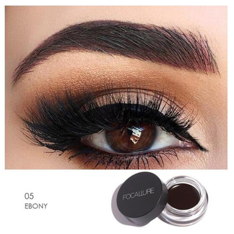 Focallure Eyebrow Gel Durable 5 Colors Waterproof Maquiagem Makeup Accessories Eyebrow Pomade Gel + Black Brush