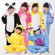 Купить с кэшбэком Unicorn Pajamas for Boys Girls Animal Pegasus Unicorn Cosplay Kigurumi Kids Pijamas Onesies Winter  Children  Sleepwear 4-12T