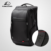 Kingsons Multifunction Business Backpack Male High Quality Antithief Laptop Leisure Travel Men Shoulder Bag Fashion Mochila