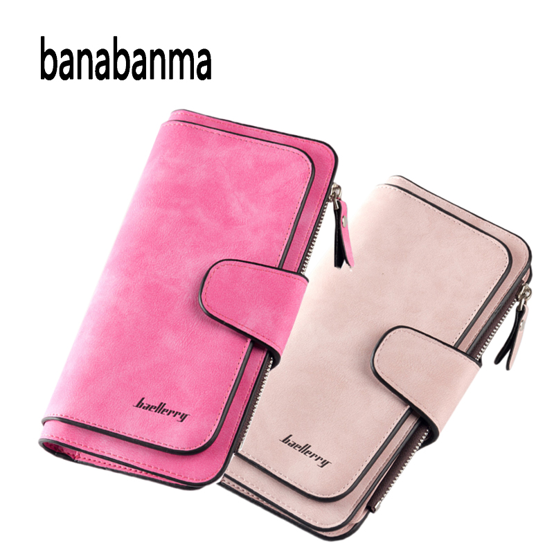 Women Long PU Leather Trifold Wallet Lady Purse Pouch Clutch Card Money Holder