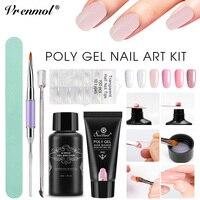 Vrenmol Poly Gel UV Quick Builder Gel Fast Extention Hard Gel Jelly Acrylic Crystal Poly Gel Slip Solution Nail Brush Kits