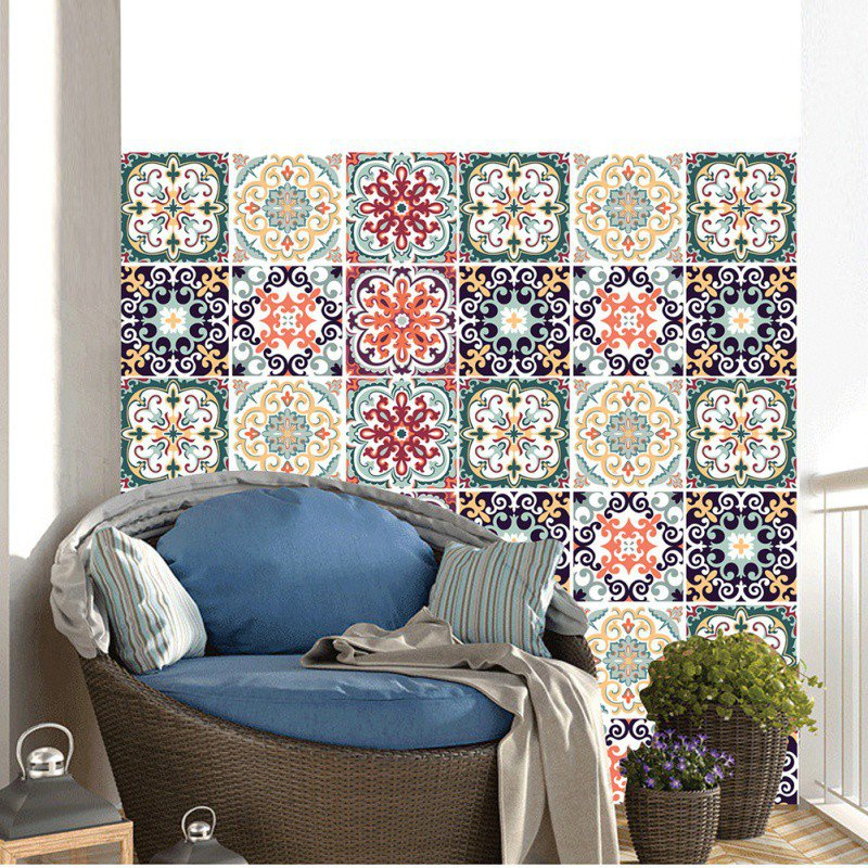 moroccan style diy mosaic wall tiles stickers waist line