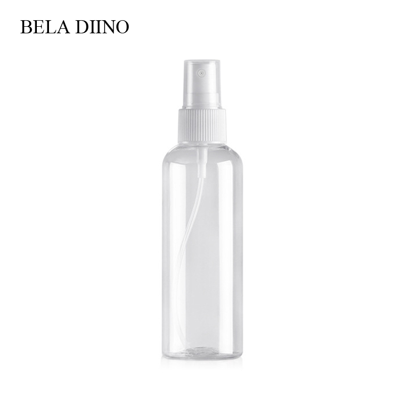 Image 3 - 5Pcs Fine Mist Plastic PET Spray Bottle 100ml Travel Cosmetic Bottles Set Makeup Liquid Container Refillable Perfume Atomizer-in Refillable Bottles from Beauty & Health