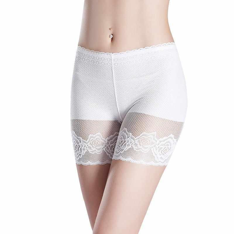Женские безопасные кружевные короткие штаны, летнее женское сексуальное нижнее белье, Бесшовные женские тонкие дышащие штаны, 2019