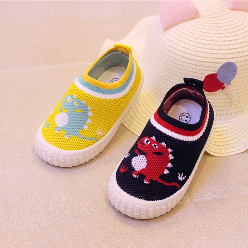 2019 Autumn Canvas Children 39 s Shoe Cut Cartoon Animals Casual Shoes Kids Black Baby Boy Shoes Breathable Fashion Sneakers Yellow in Sneakers from Mother amp Kids
